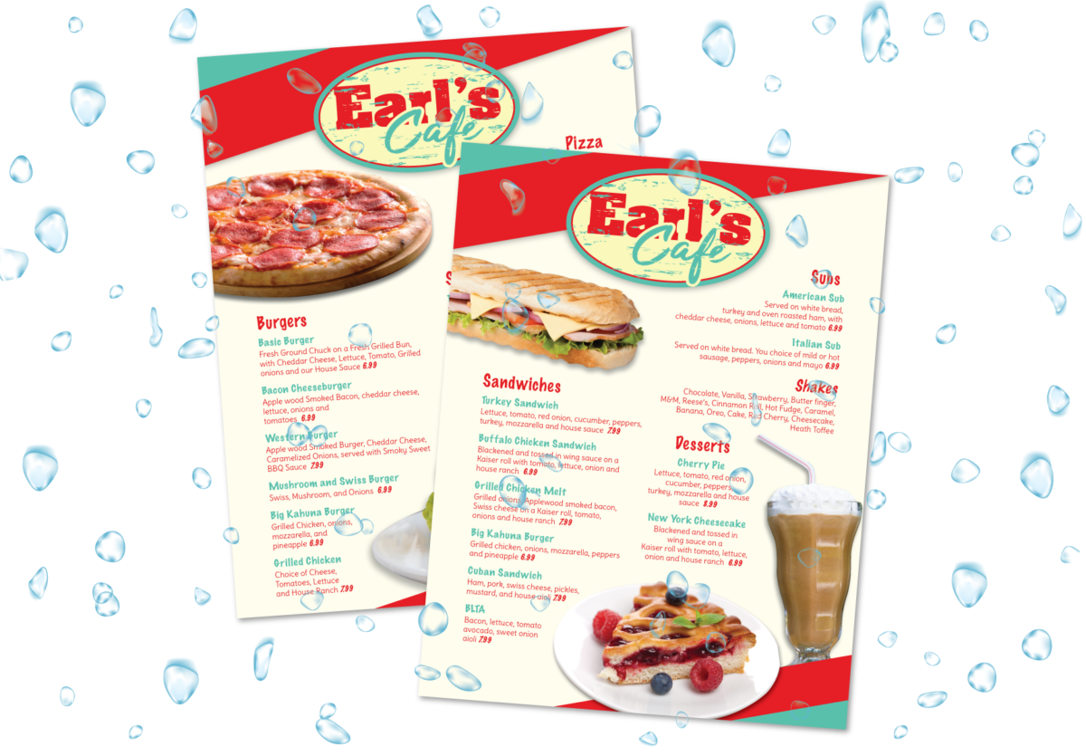 Waterproof synthetic menus